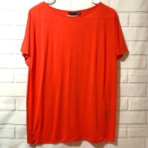 Ted Baker London Bright Orange Solid Tunic Top